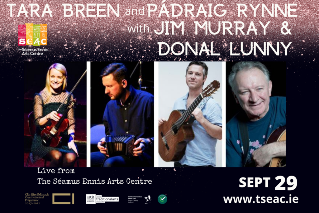 A night of music with Tara Breen & Pádraig Rynne, with Jim Murray and Dónal Lunny